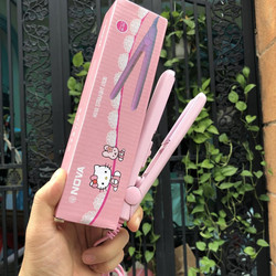 Máy Duỗi Tóc Mini Nova màu hống Hello Kitty