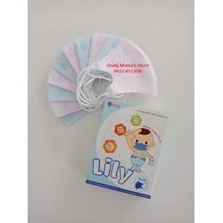 Khẩu Trang Nhật Lily Cho Bé từ 3 tháng đến 6 tuổi