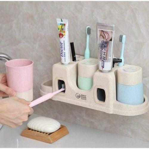 Bộ dụng cụ nhả kem đáng răng tự động lúa mạch 3 cốc - 20240764 , 22734811 , 15_22734811 , 82900 , Bo-dung-cu-nha-kem-dang-rang-tu-dong-lua-mach-3-coc-15_22734811 , sendo.vn , Bộ dụng cụ nhả kem đáng răng tự động lúa mạch 3 cốc