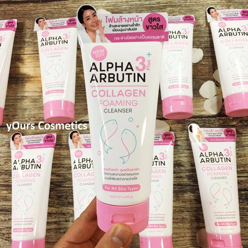 Sữa rửa mặt alpha arbutin collagen foaming cleanser - dưỡng trắng da