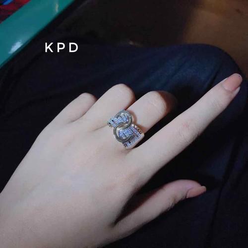 Nhẫn bạc nữ bạc italy cao cấp 925 mạ zàng 2 màu