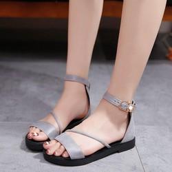 (Bảo hành 12 tháng) Giày sandal nữ đế bệt quai chéo – Có 2 màu Đen và Xám – Bảo hành trong 12 tháng – Đủ size 35 đến 39 – Linus LN1817