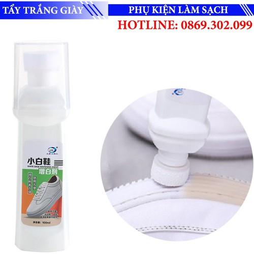 Dung dịch vệ sinh làm trắng đồ da, giày da cao cấp 100ml - white shoe whitening agent