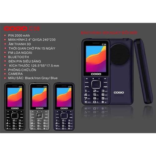 Điện thoại cogo c38 màn hình 2.4inch cỡ chữ to loa to pin khủng - hàng chính hãng - 17020926 , 22793384 , 15_22793384 , 299000 , Dien-thoai-cogo-c38-man-hinh-2.4inch-co-chu-to-loa-to-pin-khung-hang-chinh-hang-15_22793384 , sendo.vn , Điện thoại cogo c38 màn hình 2.4inch cỡ chữ to loa to pin khủng - hàng chính hãng