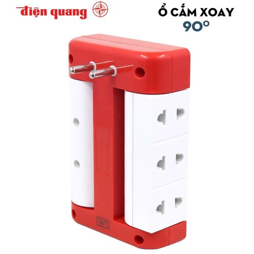 Ổ cắm xoay 90° điện quang đq esk rt 6wr 6 lỗ, màu đỏ trắng - 18142140 , 22777666 , 15_22777666 , 79000 , O-cam-xoay-90-dien-quang-dq-esk-rt-6wr-6-lo-mau-do-trang-15_22777666 , sendo.vn , Ổ cắm xoay 90° điện quang đq esk rt 6wr 6 lỗ, màu đỏ trắng