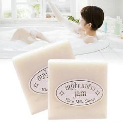 [CHÍNH HÃNG] ComBo 5 Xà Phòng Kích Trắng Cám Gạo AM RICE MILK SOAP Dùng Face và Body - Thái Lan