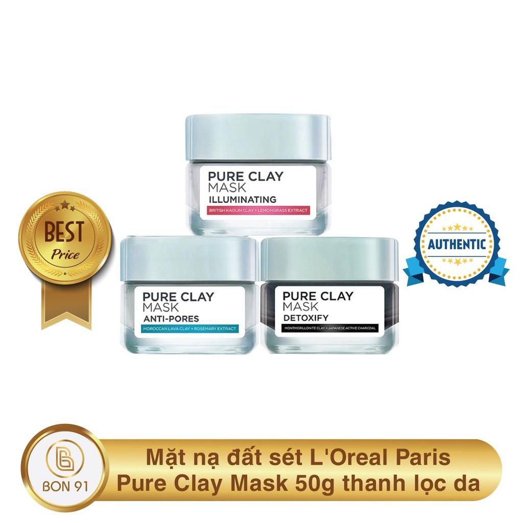 Mặt Nạ Đất Sét Loreal Pure Clay Mask 50G  Bon91