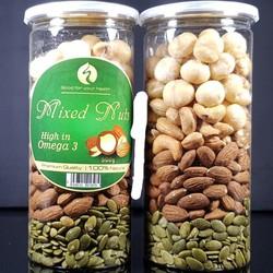 Mixed Nuts 4 loại hạt dinh dưỡng Macca, Hạt Bí Xanh, Hạnh Nhân, Hạt Điều đã tách vỏ
