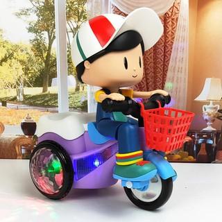 Đồ chơi bé đi xe đạp phát nhạc - Xe đồ chơi -X e đồ chơi cho bé xoay 360 độ có nhạc và đèn [ĐƯỢC KIỂM HÀNG] - 22825042 thumbnail