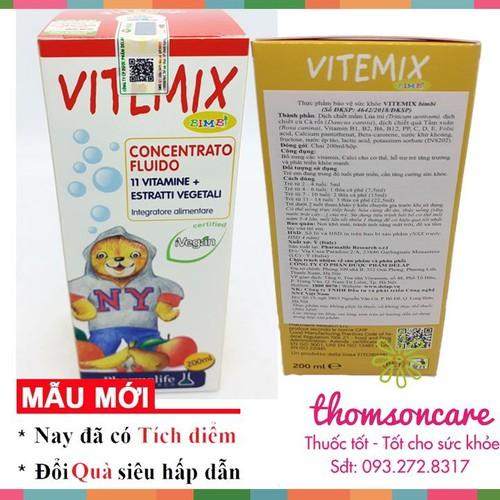 Siro bổ sung vitamin fitobimbi vitemix   bổ sung canxi   hỗ trợ trẻ phát triển khỏe mạnh