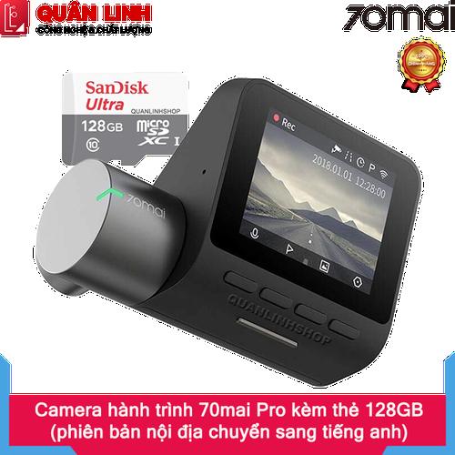 Camera hành trình xiaomi 70mai dash camera pro midrived02 kèm thẻ 128gb