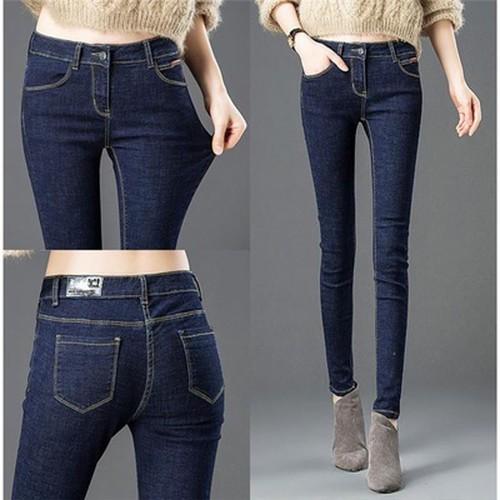[Cho xem hàng]quần jeans nữ co giãn lưng cao