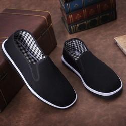 Giày lười vải nam - nữ - Giày lười nữ- Giày lười nam đi bộ êm chân GLNU-05