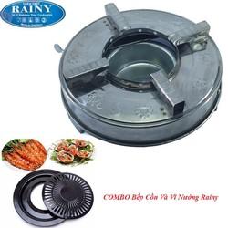 COMBO Bếp Cồn Và Vĩ Nướng Cao Cấp Rainy-Hàng Chính Hãng