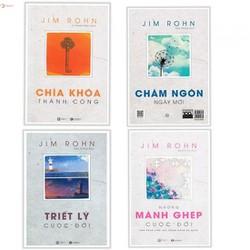 Combo Bộ Sách Jim Rohn : Chìa Khóa Thành Công, Những Mảnh Ghép Cuộc Đời, Triết Lý Cuộc Đời và Bốn Mùa Cuộc Sống - Châm Ngôn Cuộc Sống - tặng kèm booksmark thiết kế