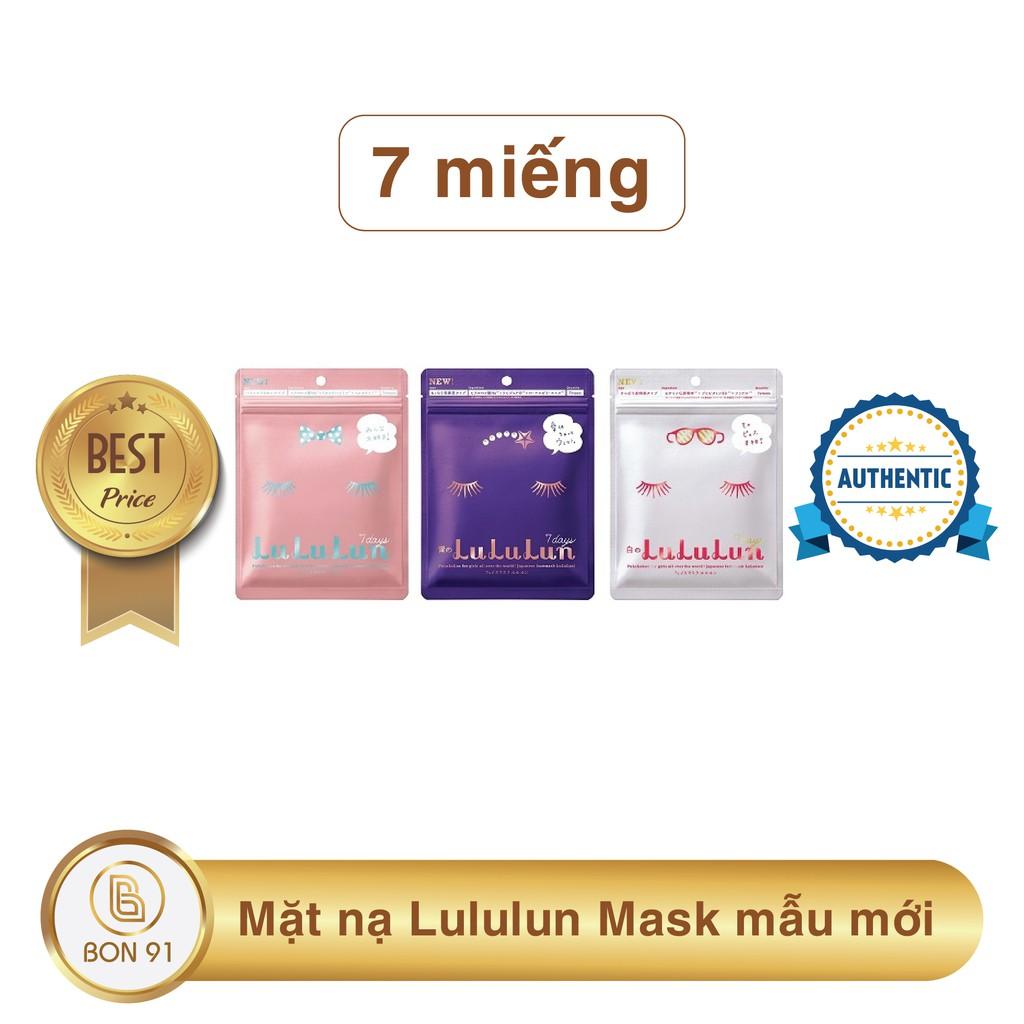 7 Miếng Mặt Nạ Lululun Mask Mẫu Mới Nhật Bản Trắng Hồng Tím Đỏ Vàng
