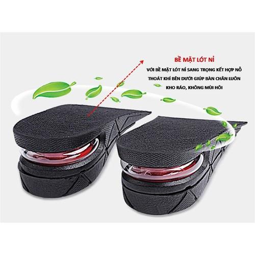 Lót giày tăng chiều cao có đệm khí cả bàn loại cao cấp tặng quà vchac