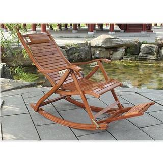 Ghế bập bênh thư giãn - ghế thư giãn ngồi uống trà - ghế gỗ thư giãn massage chân thumbnail