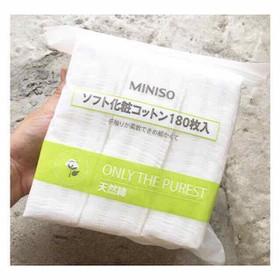 Bông tẩy trang Miniso Nhật Bản túi zip - tt miniso