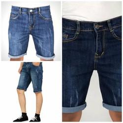 Quần shorts jean nam cào[ĐƯỢC KIỂM HÀNG] hàng công ty cao cấp 2 màu size 27-32