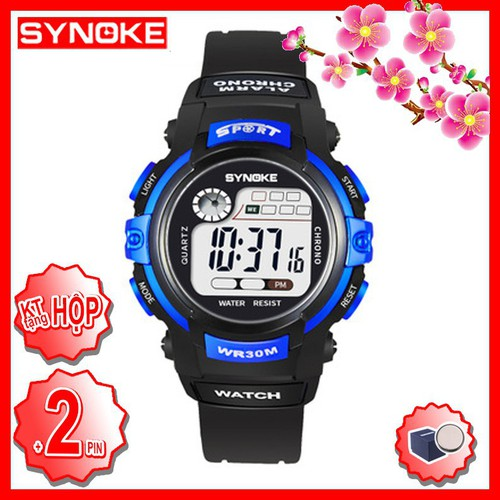 Đồng hồ trẻ em bé trai bé gái synoke 56999 dây silicon chống nước ocmd