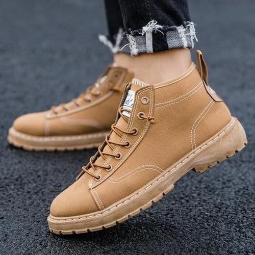 Giày nam - giày thể thao nam cổ cao vàng bò siêu chất