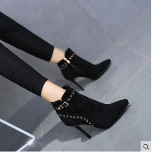 Giày bốt nữ da lộn gót nhọn kiểu dáng xinh xắn thương hiệu feng shaling - 19121961 , 22208518 , 15_22208518 , 1080000 , Giay-bot-nu-da-lon-got-nhon-kieu-dang-xinh-xan-thuong-hieu-feng-shaling-15_22208518 , sendo.vn , Giày bốt nữ da lộn gót nhọn kiểu dáng xinh xắn thương hiệu feng shaling