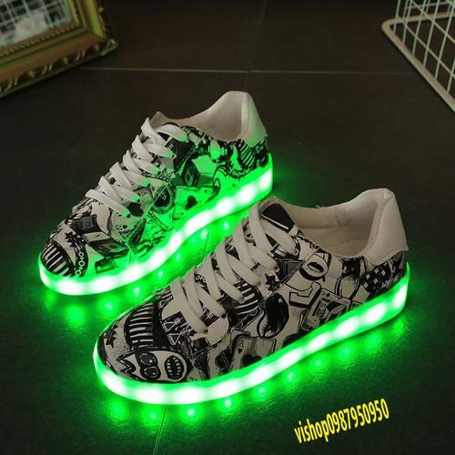 Combo 4 đôi giày phát sángt nam nữ