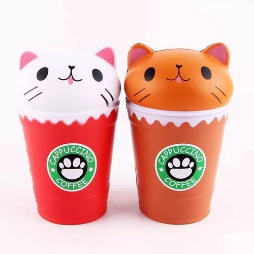 Hàng sẵn squishy to coffe mèo