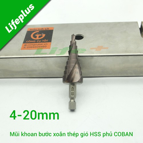 Mũi khoan bước xoắn 4-20mm m35 coban-cl
