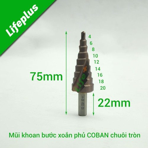 Mũi khoan tháp bước xoắn 4-20mm m35 coban-ct - 19475286 , 22217285 , 15_22217285 , 208500 , Mui-khoan-thap-buoc-xoan-4-20mm-m35-coban-ct-15_22217285 , sendo.vn , Mũi khoan tháp bước xoắn 4-20mm m35 coban-ct
