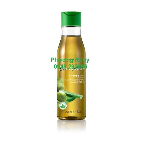 Gel tắm tinh dầu oliu và nha đam 250ml