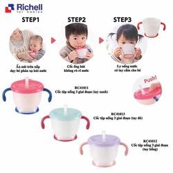 Cốc tập uống 3 giai đoạn Richell 150ml -Nhật - Cốc tập uống Richell
