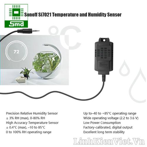 Cảm biến nhiệt độ và độ ẩm sonoff si7021 dùng cho th10 th16 s22