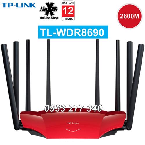 Tplink 2600m wdr8690 thiết bị phát wifi 8 râu - bh 12t