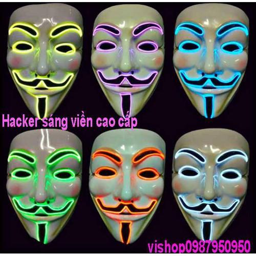 Mặt nạ hacker sáng viền cao cấp s91