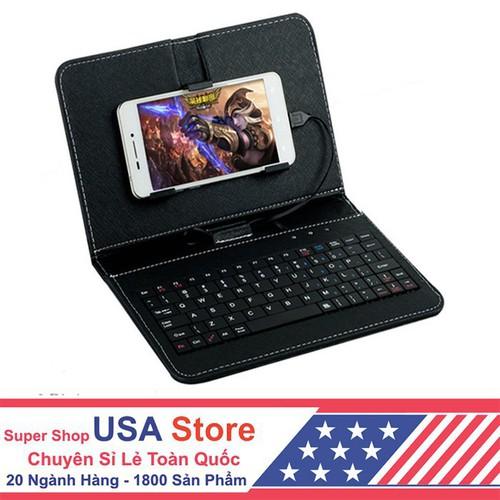 Bao da bàn phím kết nối điện thoại cổng micro usb giao màu ngẫu nhiên gpks1009 rẻ cực rẻ