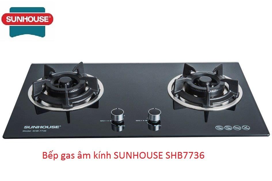 Bếp gas âm kính SUNHOUSE SHB7736 - SUNHOUSE SHB7736
