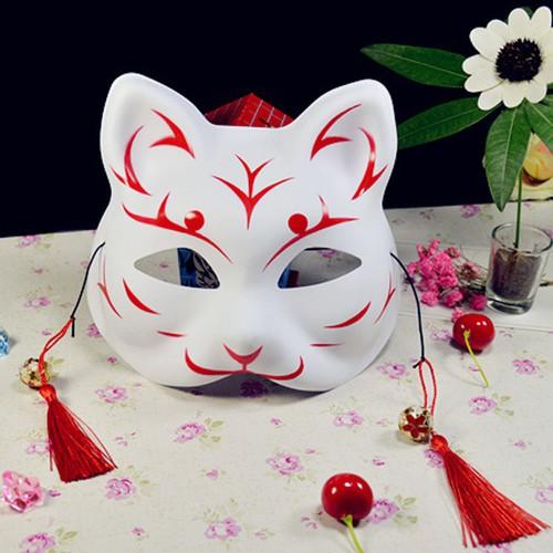 Mặt nạ hóa trang bằng pvc mặt nạ vẽ mèo nhiều mẫu tùy chọn