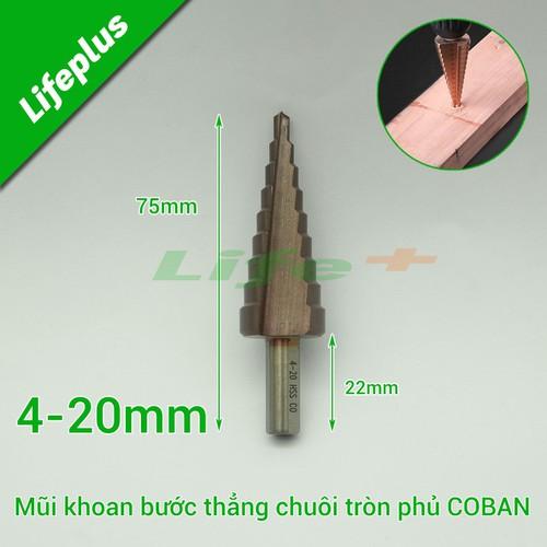 Mũi khoan tháp bước thẳng 4-20mm m35 coban-ct - 17045130 , 22216082 , 15_22216082 , 129000 , Mui-khoan-thap-buoc-thang-4-20mm-m35-coban-ct-15_22216082 , sendo.vn , Mũi khoan tháp bước thẳng 4-20mm m35 coban-ct