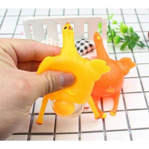 Gudetama gà đẻ trứng trút giận đồ chơi dẻo all in one