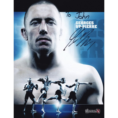 Chữ ký tay của georges st-pierre 20x25cm