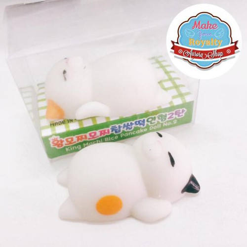 Squishy mochi gudetama chính hãng siêu dễ thương