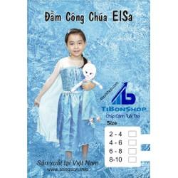 Trang Phục hóa Trang halloween-Trang Phục Công Chúa Elsa
