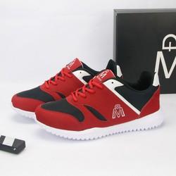 Giày thể thao nam đỏ đế trắng chất lượng cao siêu bền TS407 Tronshop