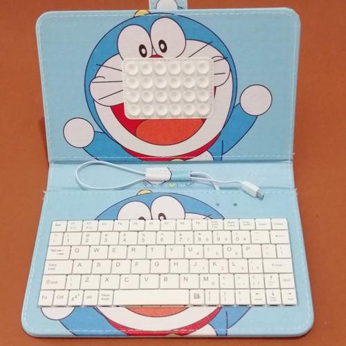 Hàng sẵn bao da bàn phím hình doremon