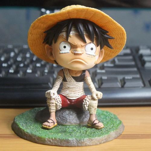 Mô hình onepiece luffy mũ rơm figure ver kid cute full box bộ sưu tập trang trí bàn học bàn làm việc quà tặng ý nghĩa