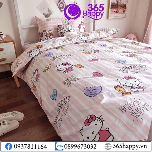 Bộ chăn ga gối 4 món cotton cao cấp thiết kế của thương hiệu 365happy- giá sỉ zalo: 0899673032