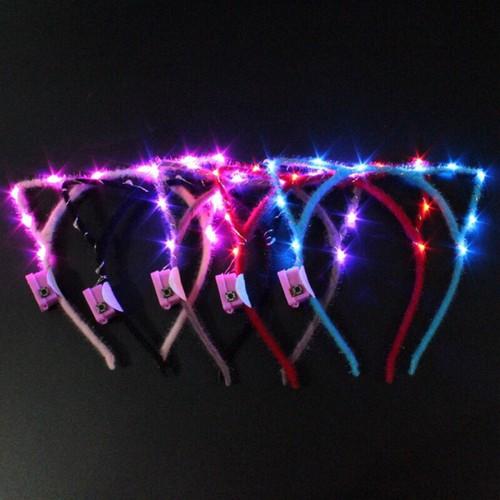 Bờm tóc tai mèo phát sáng đèn led