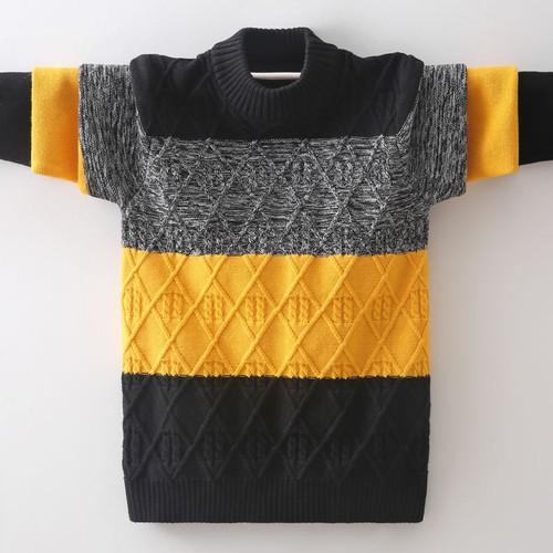 Áo len dệt kim cổ tròn thời trang mùa đông cho bé trai